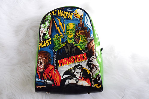 Green Monsters Mini Backpack