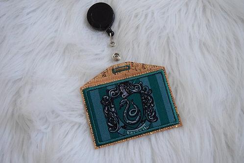 Snake House Embroidered Badge Holder