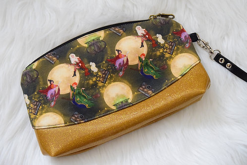 Moonlight Witches Glitter Wristlet