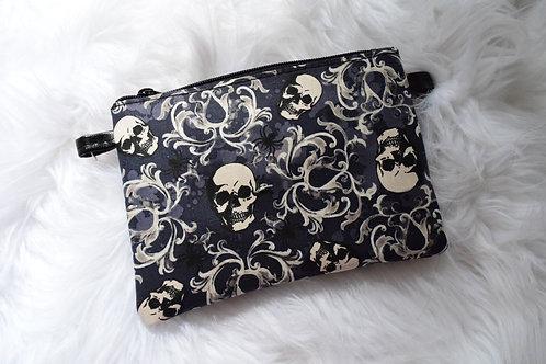 Damask Skull Lily Crossbody Bag