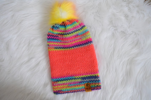 Fitted Beanie: Neon/Multi-color