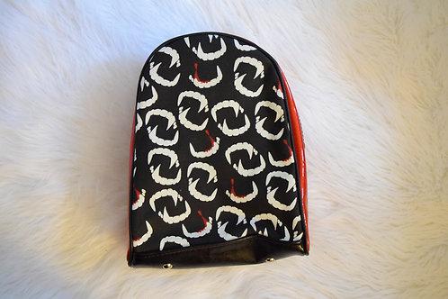 Red Glitter Vamp Fangs Mini Backpack