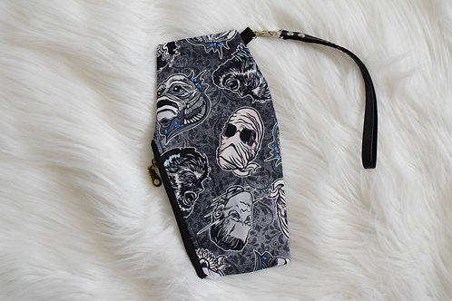 Classic Monsters Coffin Wristlet