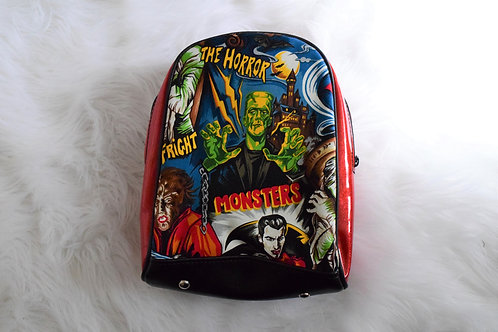 Red Monsters Mini Backpack