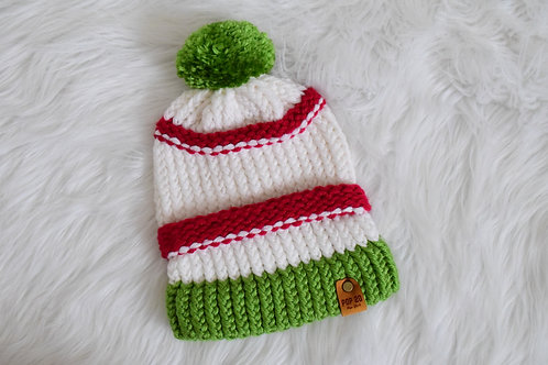 Fitted Beanie: Holiday Tones
