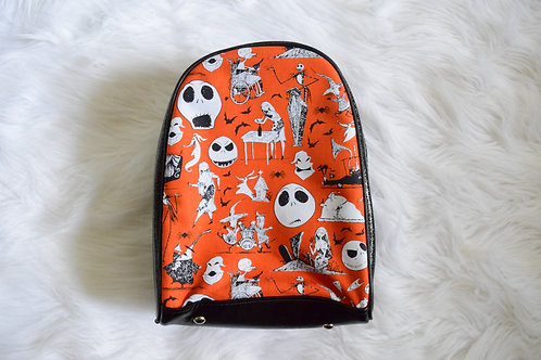 Orange Nightmare Mini Backpack