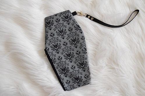 Gray Wallpaper Coffin Wristlet