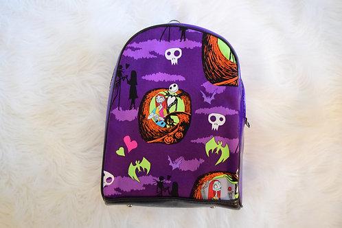 Purple Glitter Nightmare Mini Backpack