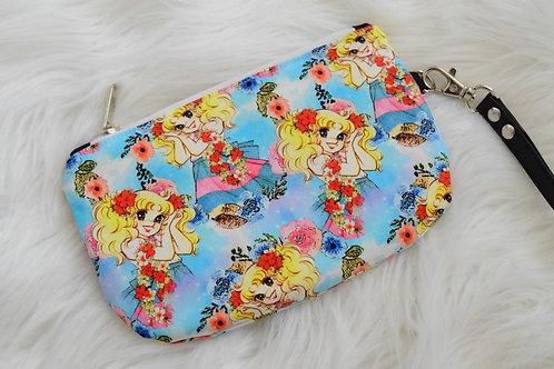 Floral Anime Mini Wristlet