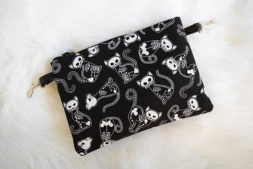 Skeleton Cats Lily Crossbody Bag