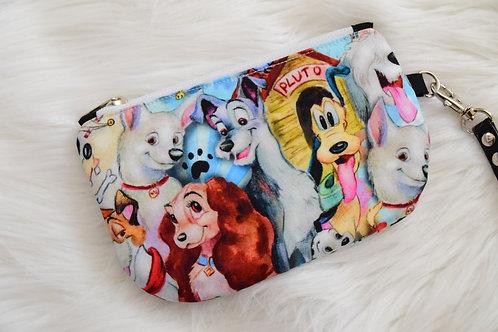 Watercolor Dogs Mini Wristlet