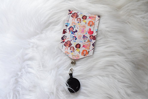 Mini Princesses Badge Holder