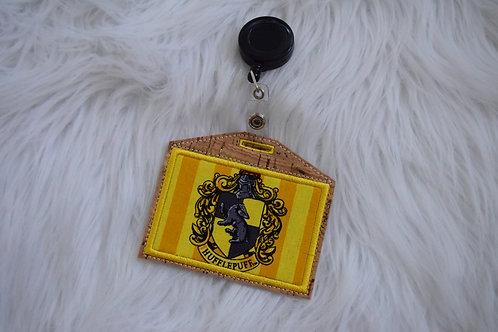 Badger House Embroidered Badge Holder