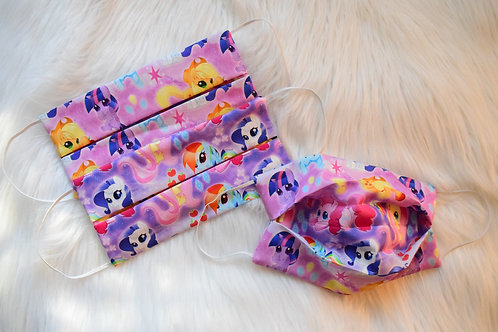 Dream Ponies Pleated Face Mask