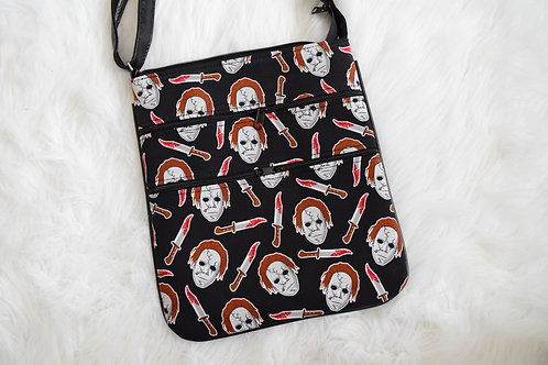 Halloween Slasher Triple Zip Crossbody