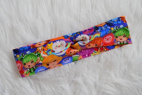Rainbow Friends Faux Turban Headband