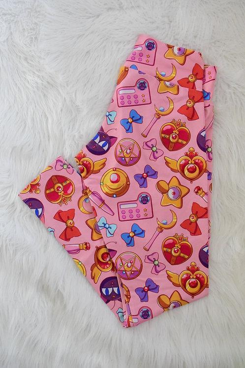 Pink Sailor Adult Leggings