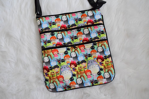 Anime Friends Triple Zip Crossbody