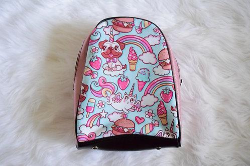 Light Pink Glitter Unicorn Pets Mini Backpack