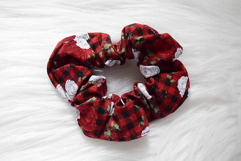Winter Plaid Scrunchie