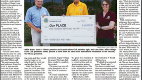 Lions Club Donation to Our Place