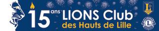Création d'une banderole pour les 15 ans du club les Hauts de Lille