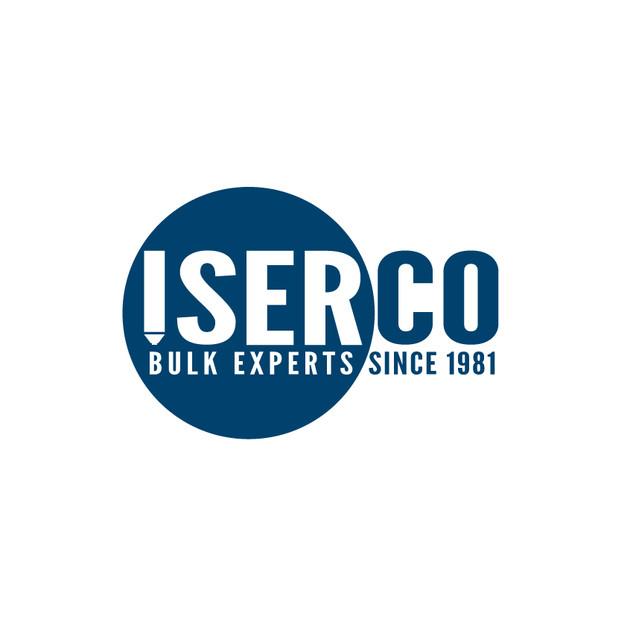 Conception du logo et de la charte graphique ISERCO. Représentation de la symbolique du silo sur le lettrage