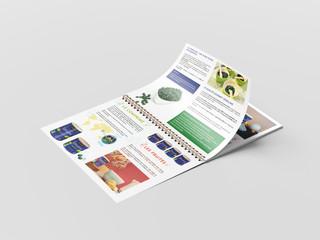 Mise en page du dossier de presse pour la présentation de la gamme
