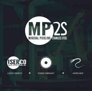 Le logo fait référence au logo ISERCO, à l'image des fonds vibrants (spécialité d'ISERCO), et au nettoyage haute pression.