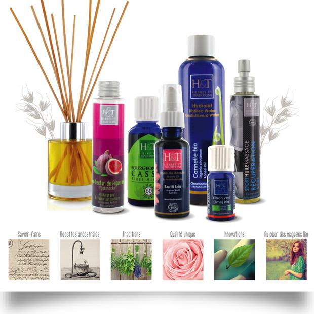 IDENTITÉ DE MARQUE, GRAPHISME, PACKAGING : Herbes & Traditions, laboratoire de produits cosmétiques bio