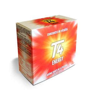 Création d'étuis en carton mettant en avant l'aspect énergétique des compléments alimentaires.