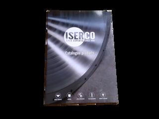Conception du catalogue ISERCO, format A4, vernis sélectif sur la couverture