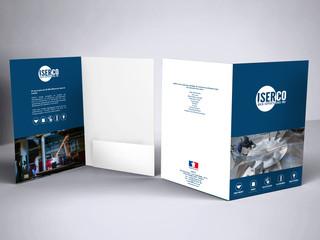 Conception de pochettes à rabat et cartes de visite