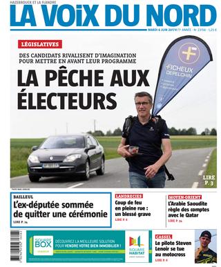 Conception de supports de com, street flag FICHEUX / DEPELCHIN pour les élections législatives 2017.