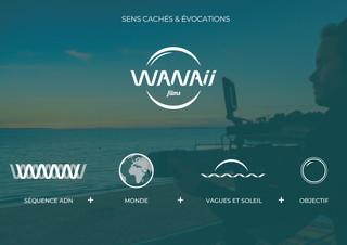 Le logo Wanaii Films fait référence à plusieurs valeurs de la marque : - Sublimer l'ADN du monde - L'univers marin - L'audio-visuel