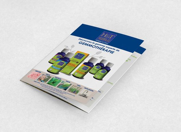 Création de la gamme de produits à base de bourgeons et des supports de com