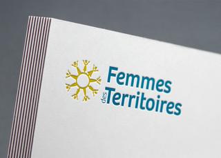 Création du logo Femmes des Territoires, déclinaison du réseau en national.