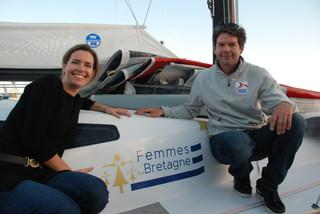 flocage de bateau à l'occasion de la Route du Rhum 2018 avec Nicolas Troussel