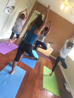 Students in Tree pose