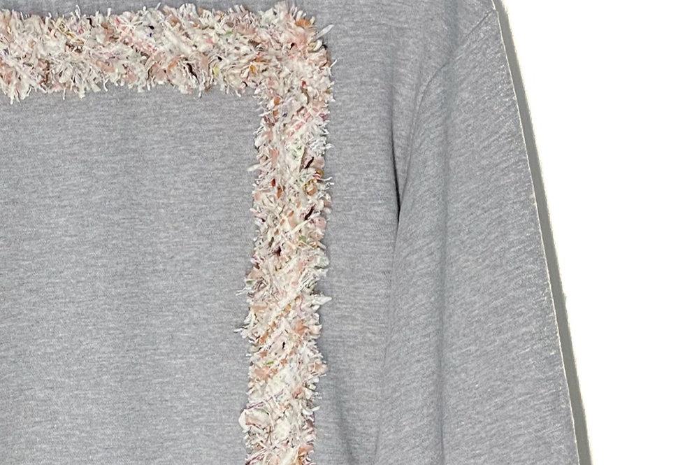 Tweed High-neck Sweatshirt