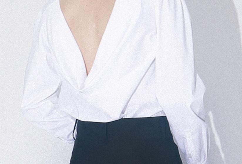 Back Draped Shirt