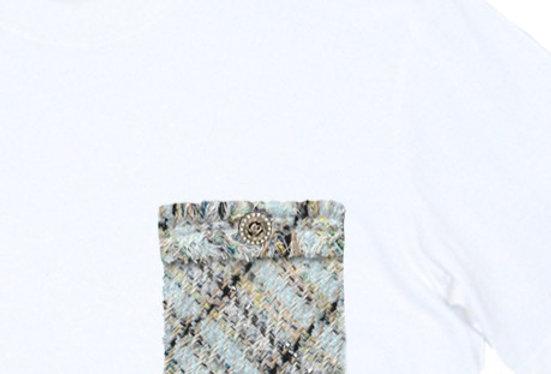 Tweed Pocket Tee
