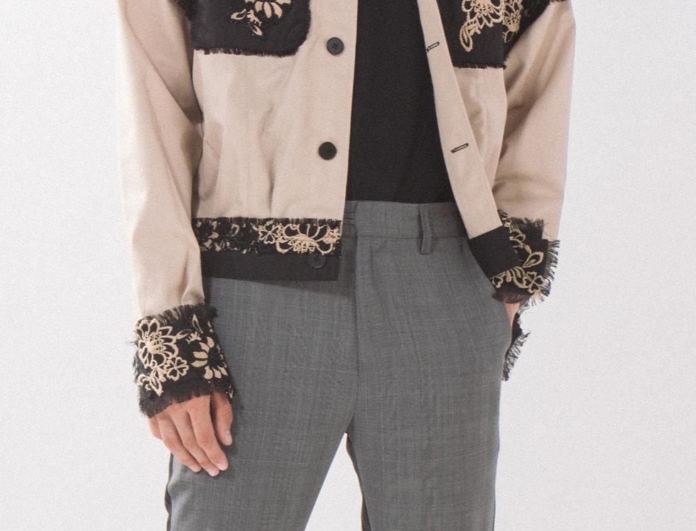 Lace Trucker Jacket