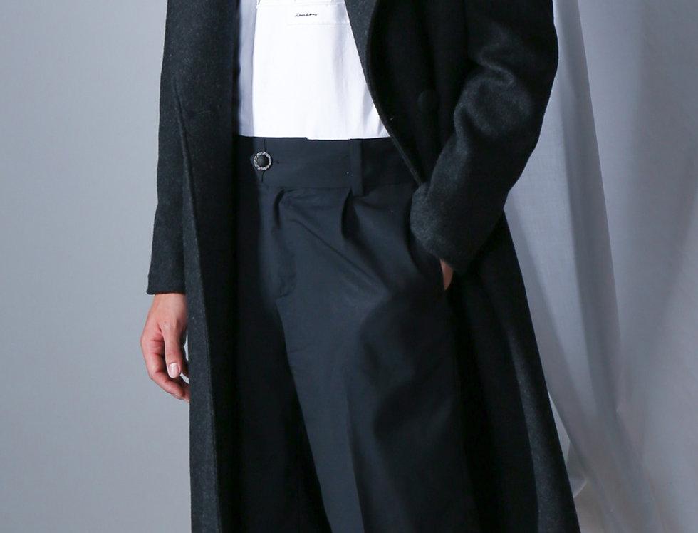 Smoky Black Chesterfield Coat
