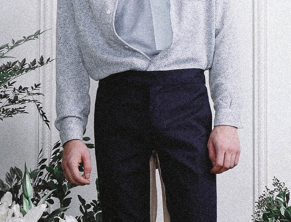 Light Blue Tweed Shirt Jacket