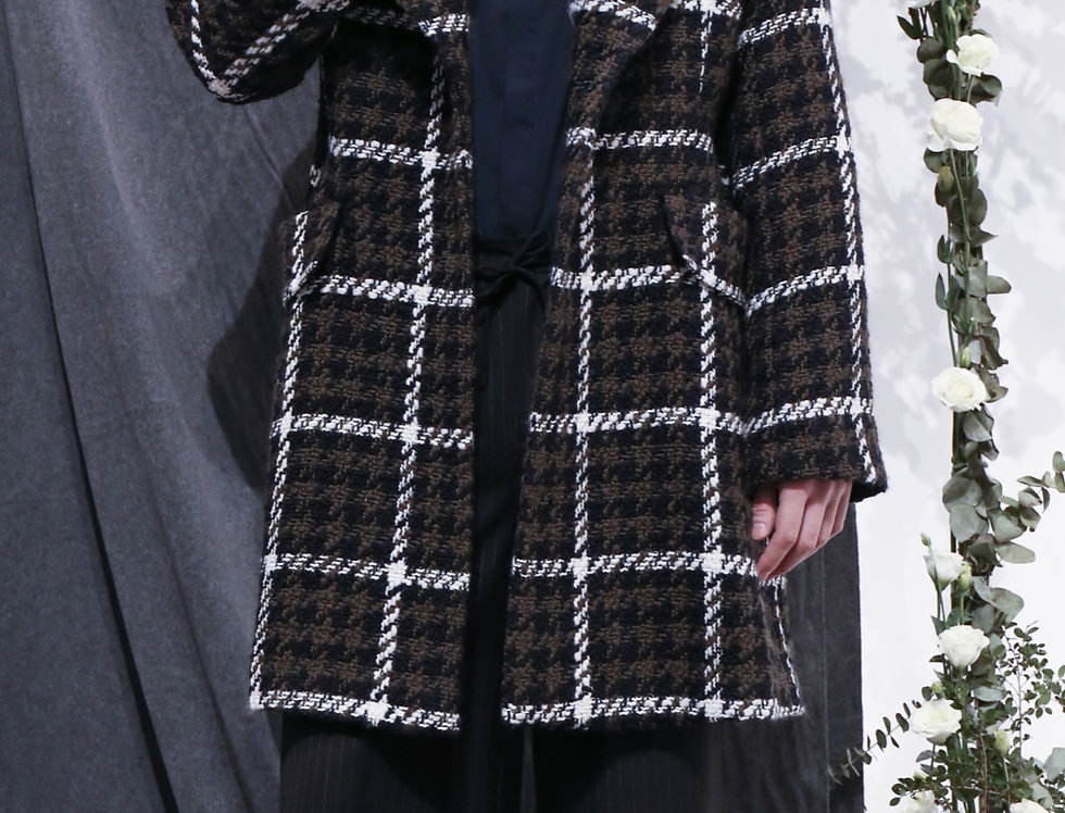 Green Checked Guards Coat