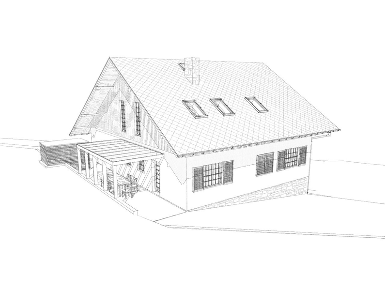 Reconstruction of the house in Slapy