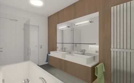 Prague 8, residence bathroom