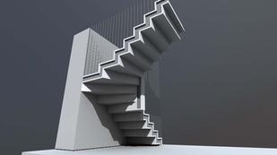 Prague 10 residnce stair