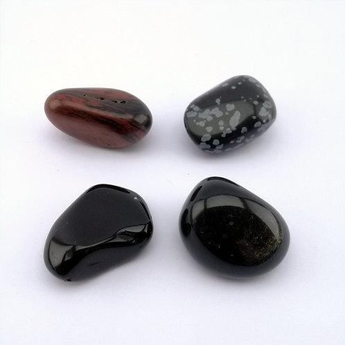 Obsidiana  polida